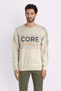 Sweat-shirt JACK AND JONES 12139927 Blanc cassé