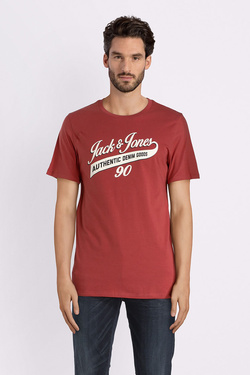 Tee-shirt JACK AND JONES 12137122 Rouge