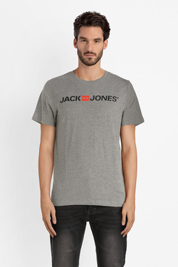Tee-shirt JACK AND JONES 12137126 Gris