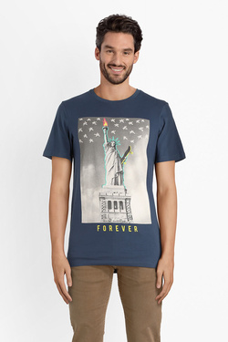 Tee-shirt JACK AND JONES 12137880 Bleu