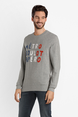 Sweat-shirt JACK AND JONES 12141817 Gris