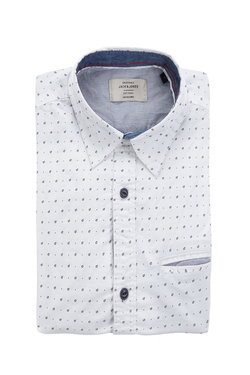 Chemise manches longues JACK AND JONES 12139428 Blanc