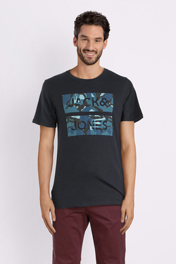 Tee-shirt JACK AND JONES 12140160 Bleu marine