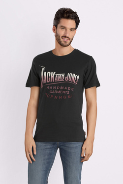 Tee-shirt JACK AND JONES 12141782 Noir mat