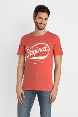 Tee-shirt JACK AND JONES 12141782 Rouge