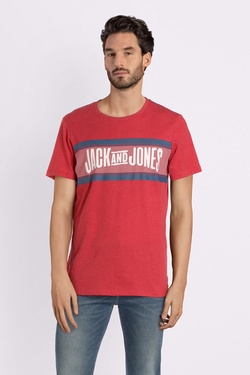 Tee-shirt JACK AND JONES 12141823 Rouge