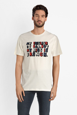 Tee-shirt JACK AND JONES 12141819 Blanc