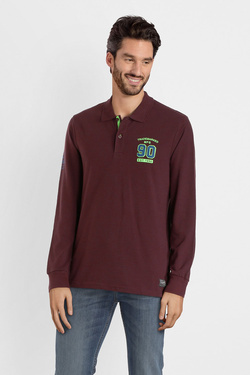 Polo JACK AND JONES 12142240 Rouge bordeaux