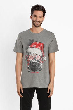 Tee-shirt JACK AND JONES 12142673 Gris
