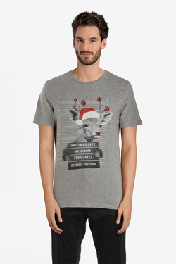 Tee-shirt JACK AND JONES 12143531 Gris clair