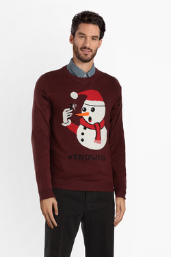 Pull JACK AND JONES 12142999 Rouge bordeaux