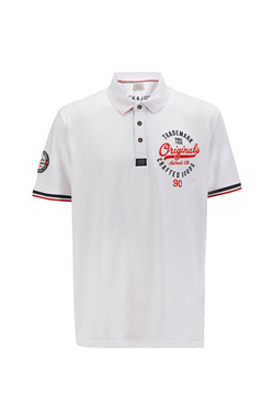 Polo JACK AND JONES 12144855 Blanc