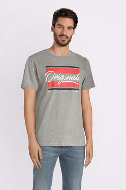 Tee-shirt JACK AND JONES 12145873 Gris