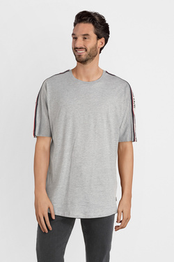 Tee-shirt JACK AND JONES 12145072 Gris clair