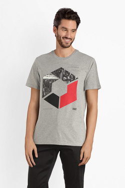 Tee-shirt JACK AND JONES 12145300 Gris