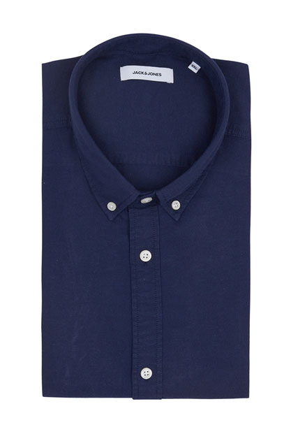 Chemise en coton et lin JACK AND JONES