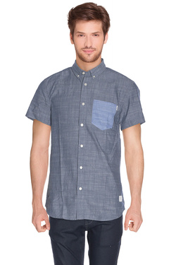 JACK AND JONES - Chemise manches courtesALTONBleu gris