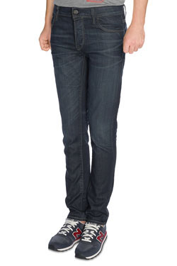 Jean JACK AND JONES GLEN STONE WASHED Bleu
