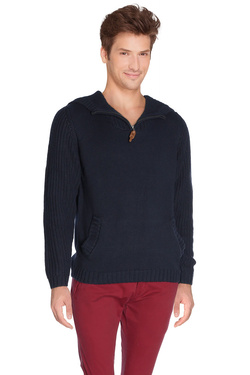Pull JACK AND JONES COVER KNIT FIT Bleu marine