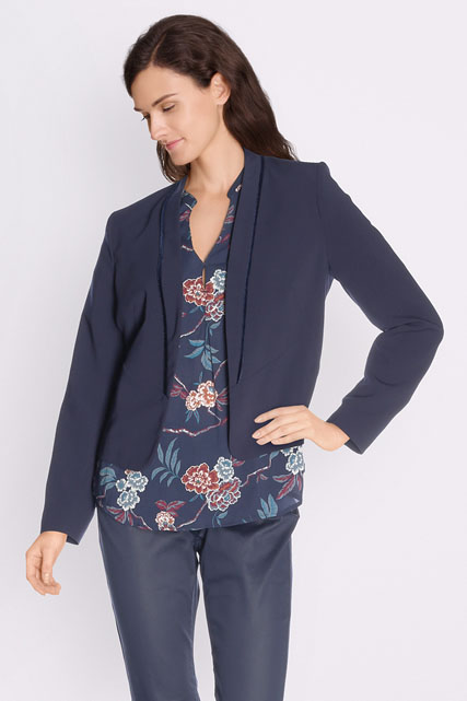 Veste spencer à biais velours
