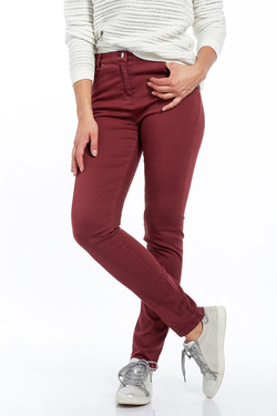 Pantalon JULIE GUERLANDE 52JG2PS930 Rouge bordeaux
