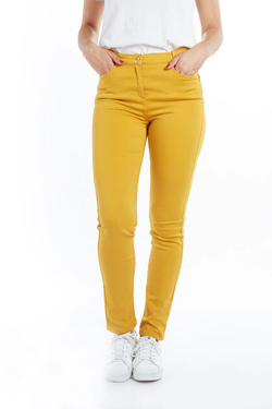 Pantalon JULIE GUERLANDE 52JG2PS930 Jaune moutarde