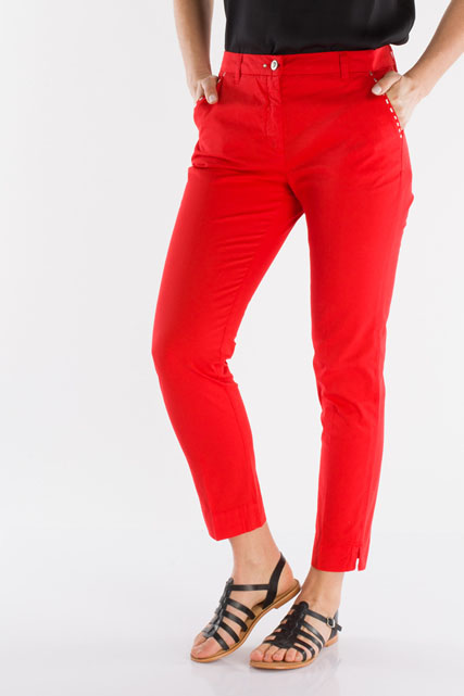 Pantalon chino en coton stretch JULIE GUERLANDE