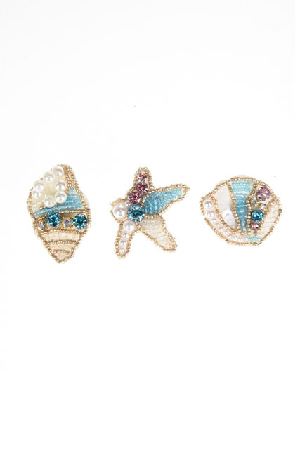 Set de 3 broches coquillages JULIE GUERLANDE