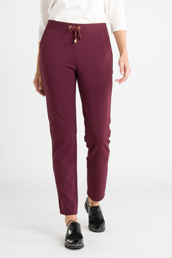Pantalon JULIE GUERLANDE 54JG2PV600 Rouge bordeaux