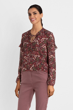 Blouse JULIE GUERLANDE 54JG2CH610 Rouge bordeaux
