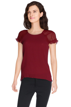 Blouse JULIE GUERLANDE 48JG2CH340 Rouge bordeaux