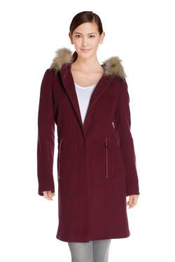 Manteau JULIE GUERLANDE 48JG2MA300 Rouge bordeaux