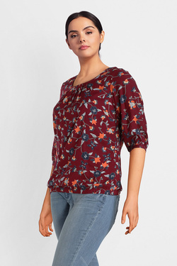 Blouse JUNAROSE 21008067 JR HIVAS Rouge bordeaux