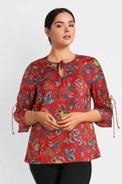 Blouse JUNAROSE 21008095 JR FADINA Rouge
