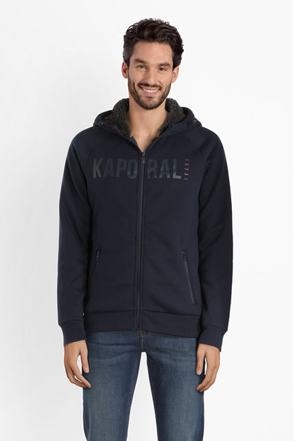 Sweat-shirt zippé fourré KAPORAL