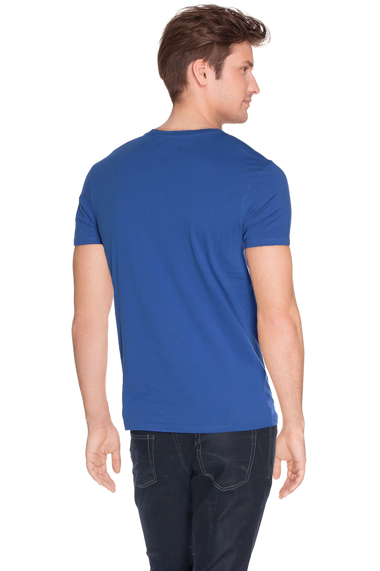 kaporal tee shirt pobye16m11 bleu homme des marques et vous. Black Bedroom Furniture Sets. Home Design Ideas
