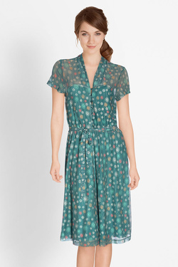 Robe KING LOUIE EMMY DRESS CARMEL Vert