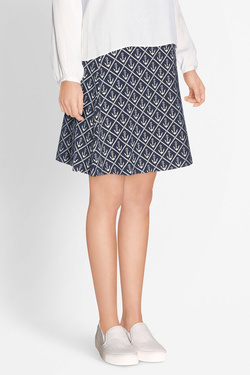 Jupe KING LOUIE BORDER SKIRT NAUTIQUE Bleu marine