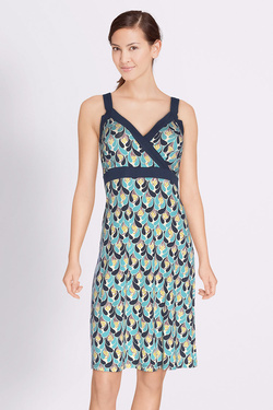 Robe KING LOUIE CROSS BLACK DRESS REEL Bleu turquoise