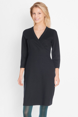 Robe KING LOUIE TEDDY DRESS CHEVRON Noir