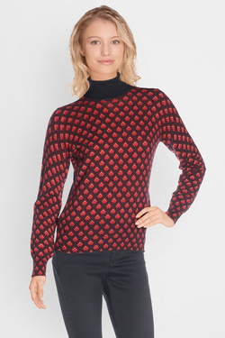 Pull KING LOUIE ROLLNECK TOP FUJI Rouge