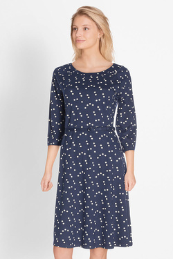 Robe KING LOUIE SKATER DRESS STAR Bleu marine