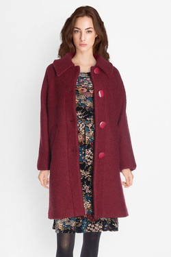 Manteau KING LOUIE BETTY COAT VEGGIE Rouge bordeaux