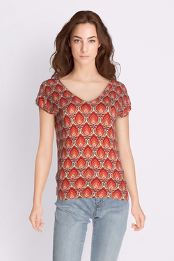 Pull KING LOUIE 02915 DEEP V TOP MARIGOLD Rouge