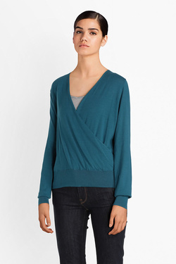 Pull KING LOUIE 03420 CROOS KNIT TOP COTTONCLU Bleu