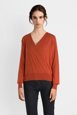 Pull KING LOUIE 03420 CROOS KNIT TOP COTTONCLU Rouge