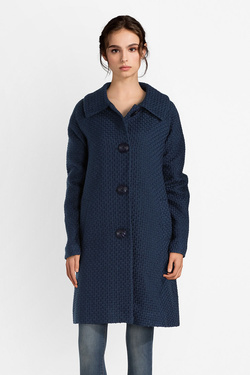 Manteau KING LOUIE 03515 BETTY COAT BISCUIT Bleu