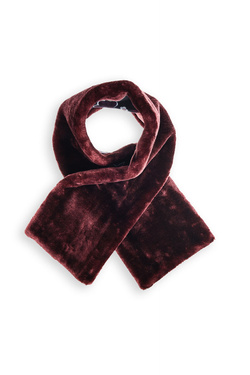 Echarpe KING LOUIE 02557 FAUX FUR SCARF ZOOT Rouge bordeaux