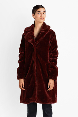 Manteau KING LOUIE 03371 ALBA COAT ZOOT Rouge bordeaux