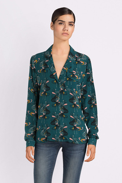 Chemise manches longues KING LOUIE 03350 MARION BLOUSE MITSY Vert